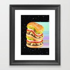 Big Burger Framed Art Print