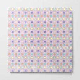 Pastel Quilt Squares Metal Print