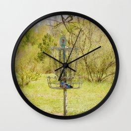 Disc Golf Basket 7 Wall Clock