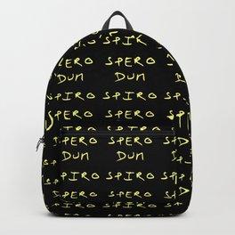 Motto of south carolina 2- golden version- Dum spiro spero. Backpack