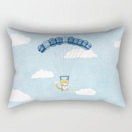 Cutie Parachuting Dog Rectangular Pillow