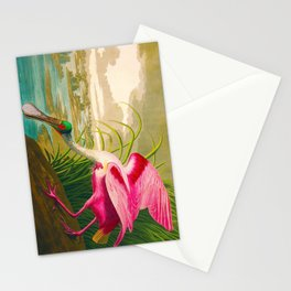 Roseate Spoonbill Bird pink Stationery Cards