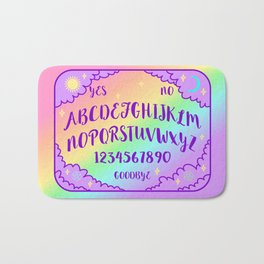 Purple and Rainbow Spirit Board Bath Mat