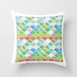 Japanese Petals/pastel Throw Pillow