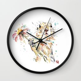 Gopher Colorful Watercolor Painting Wall Clock