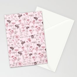 Buzzing Herb Garden (Lilac Pink Palette) Stationery Cards