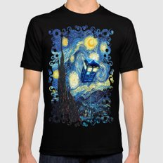 Soaring Tardis doctor who starry night iPhone 4 4s 5 5c 6, pillow case, mugs and tshirt Mens Fitted Tee LARGE Black