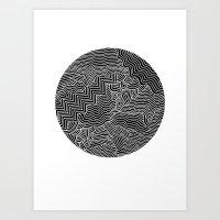 Circle White Art Print