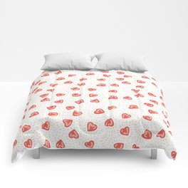 Sparkly hearts Comforters