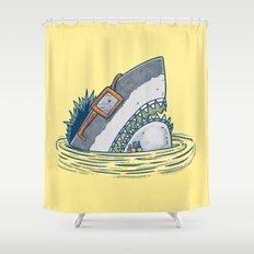 The Nerd Shark Shower Curtain