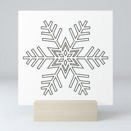 Snowflake | Winter | Hygge | Scandi | Black and White | Mini Art Print