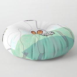 Another Planet Green Blue Floor Pillow