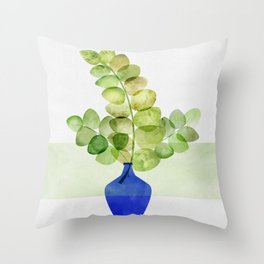 Fresh Eucalyptus Throw Pillow