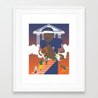 packers Framed Art Prints featuring Sweetness Says No by Hawk Tawk TV
