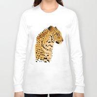 leopard Long Sleeve T-shirts featuring Leopard by Nemki