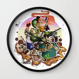 gta los angeles Wall Clock