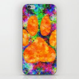 Dog Paw Print Watercolor iPhone Skin