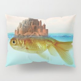 Goldfish Castle Island Pillow Sham