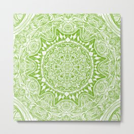 Green Mandala Metal Print