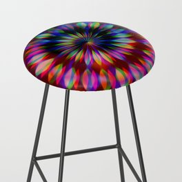 Psychedelic Rainbow Swirl Bar Stool