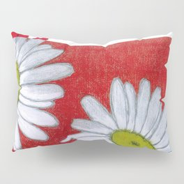 Daisies in red Pillow Sham