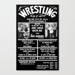 #11-B Memphis Wrestling Window Card Canvas Print