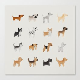 Lots of Cute Doggos Canvas Print
