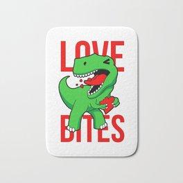 Love Bites Valentine Dinosaur Bath Mat