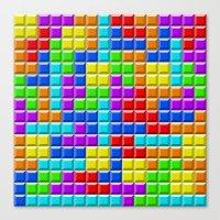 tetris Canvas Prints featuring Tetris by Rebekhaart
