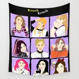 Knock Knock! Purple Version Wall Tapestry