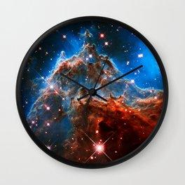 Monkey Head Nebula Wall Clock