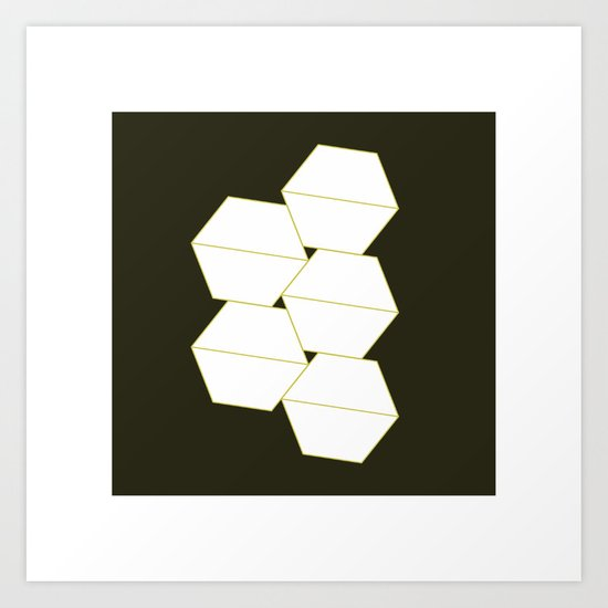 #325 Container – Geometry Daily Art Print