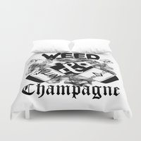 weed Duvet Covers featuring WEED & Champagne  by BranVille