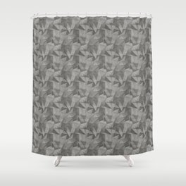 Abstract Geometrical Triangle Patterns 2 Benjamin Moore 2019 Trending Color Kendall Charcoal Gray HC Shower Curtain