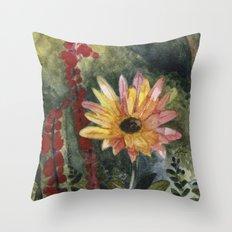 Vibrant Blossom Throw Pillow