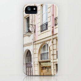 Left Bank Pink on Rue Saint-Jacques iPhone Case