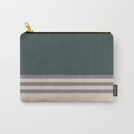Magic Dust Purple PPG13-24 & Sourdough Beige Horizontal Stripes on Night Watch Green Carry-All Pouch