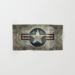 US Air force style insignia V2 Hand & Bath Towel