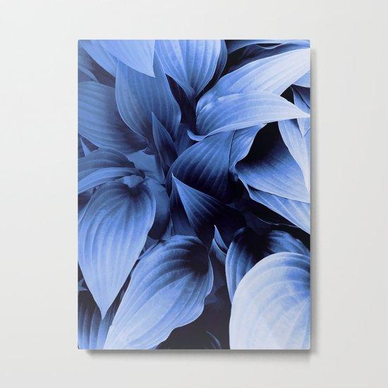 Blue Foliage Metal Print