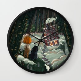 the witch in the gingerbreadhouse Wall Clock
