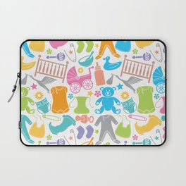seamless pattern with baby icons Laptop Sleeve