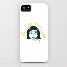 Born Bad iPhone Case