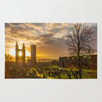 scotland Area & Throw Rugs featuring Cathedral Scotland by Sierra Whiskey Bravo