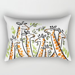 Giraffe Banquet Rectangular Pillow