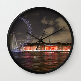 Eye of London and County Hall Wall Clock