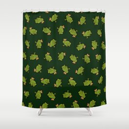 Frog Prince Pattern Shower Curtain