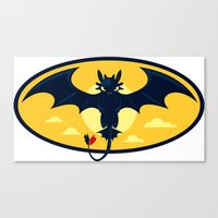 nightwing Canvas Prints featuring Nightwing by jekonu