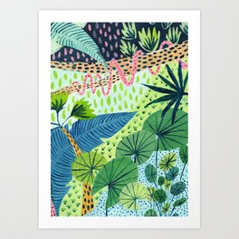 Topical Jungles Art Print