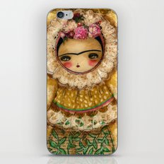 Frida In A Brown And Green Tehuana Mexican Traditional Dress iPhone & iPod Skin