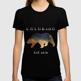 Watercolor Bear Colorado Established 1876 T-shirt